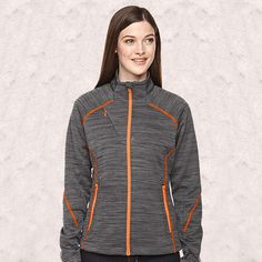 Ash City - North End Sport Red Ladies' Flux Melange Bonded Fleece Jacket-78697