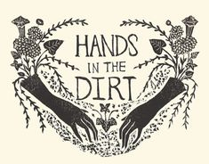 """swan-bones: """" Hands in the Dirt Block print, 2017 by Kelly Louise Judd """" Mourning Dove, Passion Flower, Lily Of The Valley, Art Inspo, Printmaking, Creations, Illustration Art, Art Nouveau, Graphic Design"""