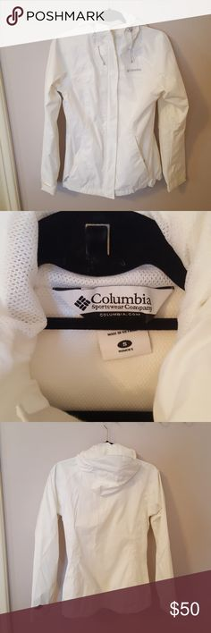White Columbia Rain Jacket Columbia rain jacket in perfect condition, only worn once or twice. Columbia Jackets & Coats