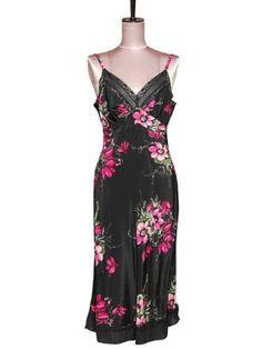 4c5e1ec29534 Magenta Floral: Viv Slip - 100% Silk - Size Small Trashy Diva, Viviane