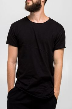 9506555ee40 All black everything and the basic extended T-shirt isn t an exception Learn