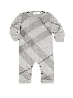 4eba579f28b1 Burberry - Baby s   Toddler s Cotton-Cashmere Check Coverall