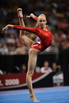 """Who died and made her Nadia""  Oh Nastia! you have the longest arms, legs, and hands that I've ever seen ! :P"