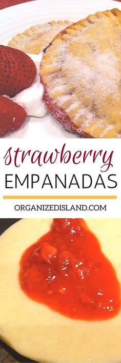 These easy strawberry empanadas are ready in minutes! All you need are some fres… These easy strawberry empanadas are ready in minutes! All you need are some fresh strawberries and a pre-packaged pie crust. Strawberry Recipes, Fruit Recipes, Mexican Food Recipes, Dessert Recipes, Strawberry Fruit, Fruit Dessert, Dessert Wine, Candy Recipes, Brunch Recipes