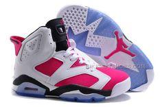 save off 2d5cf cbff8 Buy Czech Nike Air Jordan Vi 6 Retro Womens Shoes Online New White Pink  Blue from Reliable Czech Nike Air Jordan Vi 6 Retro Womens Shoes Online New  White ...