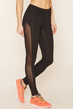 High-Waisted Mesh Panel Legging - Black | Products, Women's and Mesh