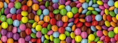 Colourful smarties candy Facebook Cover