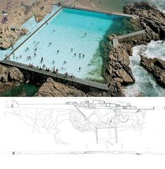Leça Swimming Pools | Alvaro Siza | Leça de Palmeira, Portugal.