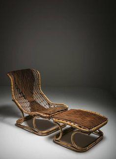 Tito Agnoli Lounge Chair with Ottoman for Bonacina 2