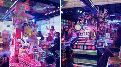 Oh hello creepy Japanese robot breastaurant: Robot Restaurant (that's actually what it's called) is in Tokyo's Shinjuku Kabukicho district, which seems to be some sort of nexus of naughtiness. And...