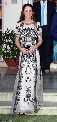 The Duke and Duchess will meet hundreds of guests from Indian society at the official gard...