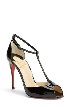 Christian Louboutin 'Señora' T-Strap Open Toe Pump available at #Nordstrom
