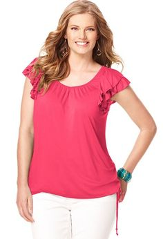 ab8c54cac38 Plus size fashion clothing including tops