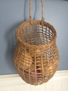 Onion basket gift storage от BasketWeavingSupplie на Etsy