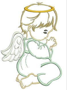 machine embroidery designs for ladies suits Crewel Embroidery Kits, Hand Embroidery Videos, Free Machine Embroidery Designs, Border Embroidery, Angel Drawing, Christmas Drawing, Fabric Art, Baby Quilts, Coloring Books