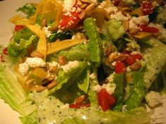 Christmas Recipe: Mexican Caesar Salad One of my favorite salads, Mexican Caesar Salad El Torito Mexican Salad Dressings, Mexican Salads, Jewish Recipes, Mexican Food Recipes, Candy Recipes, Cooking Recipes, Healthy Recipes, Keto Recipes, Salads