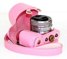Antishock PU Leather Cover Case for Sony A5100 A5000 Digital Camera Pink *** See this great product. (Note:Amazon affiliate link) #CameraGadgetsandAccessories