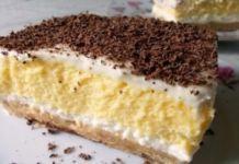 Tradiční recept na nepečené řezy se smetanovo-vanilkovým krémem!