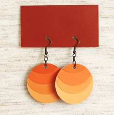 DIY Ombre Paint Chip Earrings by Minted Strawberry, featured @savedbyloves