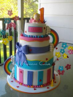 My baby girls 1st Bday Cake!! by Mmmm Cake, via Flickr
