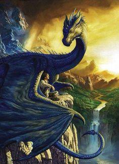 Dragon and guy