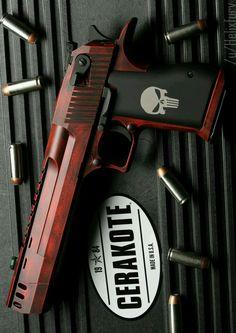 Custom Deadpool Desert Eagle Handgund Semi Auto Firearm that she got for Silvestre but uses sometimes. Ninja Weapons, Weapons Guns, Guns And Ammo, Desert Eagle, Armas Airsoft, Armas Wallpaper, Concept Weapons, Custom Guns, Cool Guns