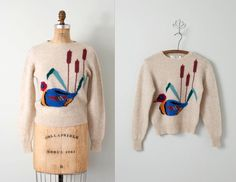 vintage sweater /  animal sweater / novelty knit by SwaneeGRACE, $42.00