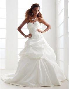 Strapless Sweetheart Taffeta Pick-up Wedding Dresses