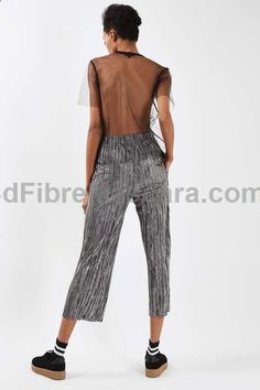 Mix up your party wardrobe with these plisse trousers in metallic stripe print. In an awkward shorter length, It comes with an elasticated high waist. Style with a hoodie and creeper trainers for a laid-back take on the look. #Topshop #lingerie #gifts #forher #her #valentines #valentinesday #ladies #female #outfit #morning #ideas #dressingup #erotic #valentinegift