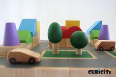 Modular, eco-friendly cityscape sets - Cubiciti  Kickcan & Conkers