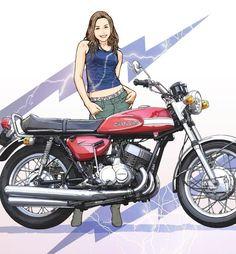 この連載は東本昌平氏の描き上げたイラストと共に日本の名車を紹介します。艶やかな美女たちと名車たちの響演をご堪能ください。 ©東本昌平・モーターマガジン社