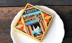 Vintage Toledo Matchbox Tramp Art Souvenir by vintageeclecticity, $24.00