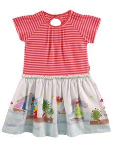 Oilily Twila Dress Pink Orange Stripe