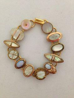 Vintage Jewelry Repurposed Items similar to Vintage Cufflink Bracelet on Etsy - Vintage Jewelry Crafts, Recycled Jewelry, Old Jewelry, Jewelry Art, Antique Jewelry, Beaded Jewelry, Jewelry Accessories, Fine Jewelry, Handmade Jewelry