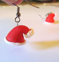 Polymer Clay Christmas Earrings Polymer Clay by MadeByTheHearth, $8.00