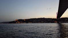 Another romantic sunset dinner at Bosporus, nearly under the second bridge :-)