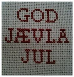 Bilderesultat for juledag Swedish Christmas, Christmas Diy, Cross Stitch, Crafty, Embroidery, Humor, Sewing, Inspiration, Badass