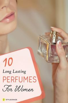 This post talks about the top ten perfumes that can give you great fragrance for longer periods of time!Would you like to know more about long lasting perfumes? Do read! 10 Best Long Lasting Perfumes for Women Perfume For Women Top 10, Best Womens Perfume, Best Perfume, Perfume Oils, Perfume Versace Mujer, Perfume Hermes, Dior Perfume, Top Parfums, Perfume Collection