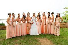Bridemaid Dresses | Casamento | Wedding | Casamento ao ar livre | Casamento no Campo | Casamento de Dia | Madrinha de Casamento | Vestido de Madrinha | Bridemaid | Madrinhas de Rosa | Madrinhas com Vestido da mesa Cor | Inesquecível Casamento
