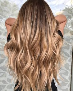 17 Stunning Examples of Balayage Dark Hair Color - Style My Hairs Ombre Hair Color, Hair Color Balayage, Balayage Hair Brunette With Blonde, Honey Balayage, Honey Blonde Hair, Dying Hair Blonde, Blonde Long Hair, Carmel Blonde Hair, Long Ombre Hair