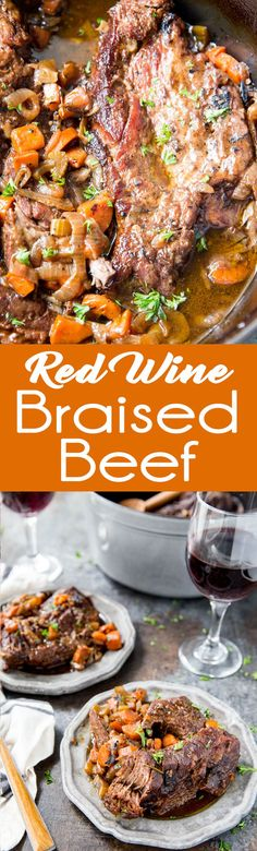 Red Wine Braised Beef tender and delicious dinner! #ad