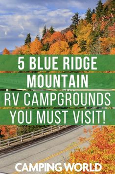 The Blue Ridge Mountains are one of the countries greatest mountain ranges. The mountains are a part of the Appalachian Mountains and stretch from Georgia to Pennsylvania. The Blue Ridge Parkway is on Camping Hacks, Travel Trailer Camping, Camping Spots, Camping World, Camping Life, Camping Ideas, Tent Camping, Rv Travel, Camping Checklist