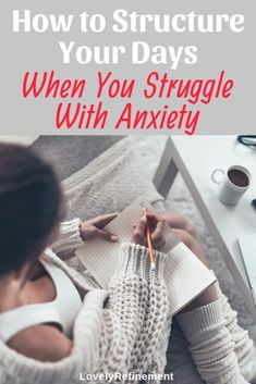 Are you ready to start fighting back against your anxiety? One of the best ways to do that is to add structure to your days. A simple daily routine allows you to focus on what's most important to you. You also slowly chip away at all the goals you have se Deal With Anxiety, Anxiety Tips, Social Anxiety, Stress And Anxiety, Health Anxiety, Anxiety Help, Overcoming Anxiety, Feeling Stressed, Feeling Overwhelmed