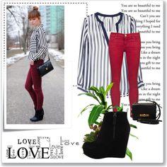 Con este look adopta la tendencia de rayas verticales. http://www.linio.com.mx/ropa-calzado-y-accesorios/dama/?utm_source=pinterest_medium=socialmedia_campaign=20022013.lookrayasverticalesvisible