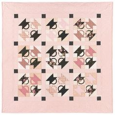 pink, brown, quilt