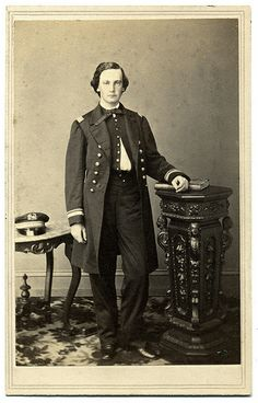 Lt. John F. McGlensey, 1860 graduate of the U.S. Naval Academy, started the Civil War on duty at the Washington Navy Yard. In 1861, he joined the South Atlantic Blockading Squadron. In this capacity he participated in the capture of Port Royal, S.C., on November 7, 1861. He survived the war and remained in the navy until his retirement in 1893. He died in Washington, D.C., three years later.  CDV via Ron Coddington's Faces of the Civil War.