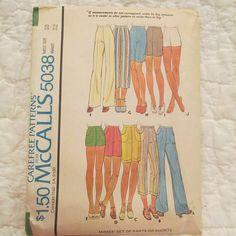 Vintage Pattern McCalls 5038 Uncut Shorts or Pants by rarefinds4u $7.25