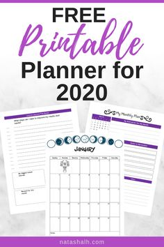 This free printable planner for 2020 is such an amazing deal! It's totally free and has 100 pages with monthly calendars, mind maps, grid dots, and so much more!