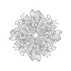 printable flower mandala coloring page