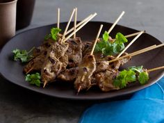 Grilled #beef #satay. A manly #snack for the big #game